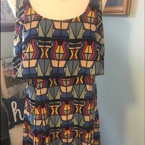 Jessica Simpson Geometric Print Halter Dress 12